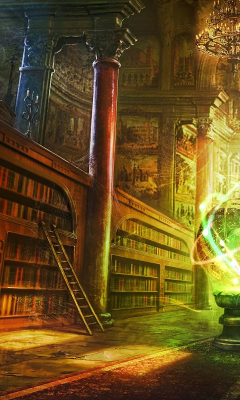 Fantasy Library Art Wallpapers HD