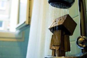 Danbo in shower