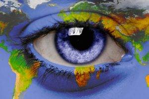 Blue Eyes Earth Artwork
