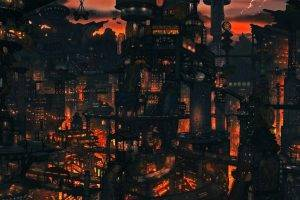Cityscapes Night Buildings