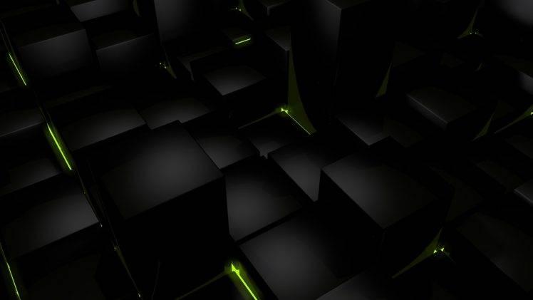 Dark Cubes HD Wallpaper Desktop Background