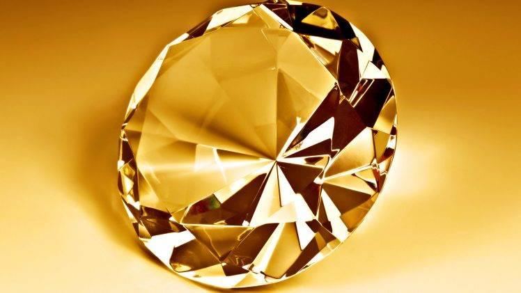 3D Diamond Gold HD Wallpaper Desktop Background