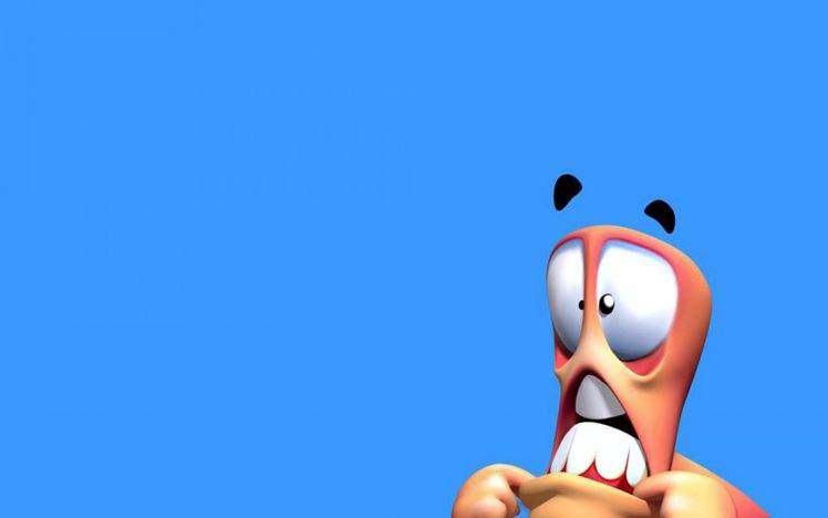 3D Funny Worms HD Wallpaper Desktop Background