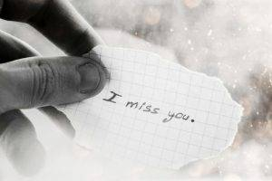 I Miss You Text In a Paper
