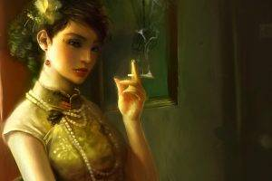 Asian Women Smokes