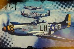 airplane, Pop Art, Vintage, Sky