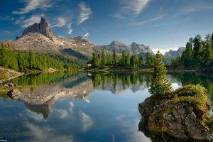 lake, Mountain, Landscape, Nature