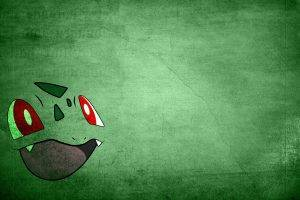anime, Pokemon, Minimalism, Bulbasaur, Green, Simple Background