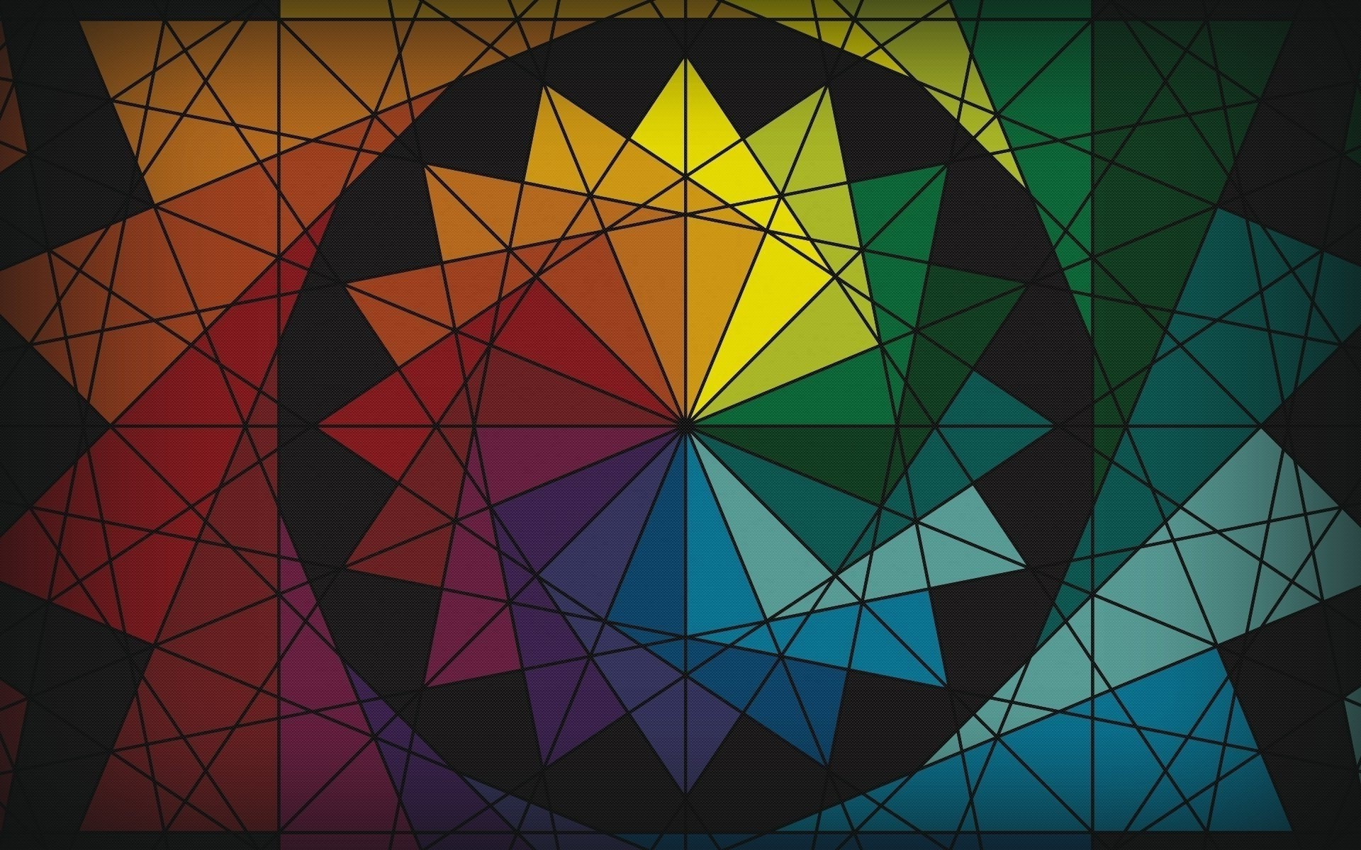 Colorful Abstract Wallpapers Hd Desktop And Mobile: Abstract, Colorful, Circle, Triangle, Color Wheel