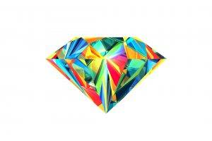 abstract, Facets, Justin Maller, Diamonds