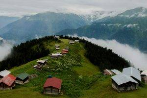 nature, Landscape, House, Turkey, Rize