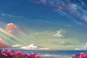 anime, Landscape, Sky