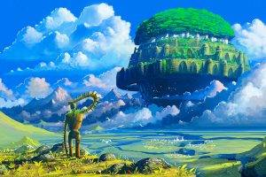 Studio Ghibli, Castle In The Sky, Robot, Anime, Floating Island