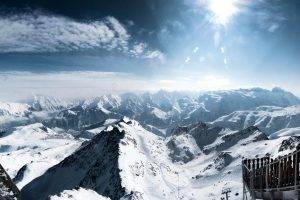 snow, Mountain, Landscape, Alps, France