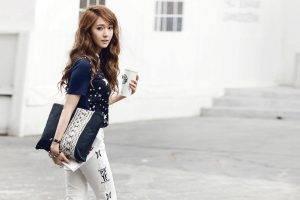 Girls's Generation, Anime, Korean, K pop, SNSD Jessica, Jessica Jung, SNSD, Pants, Women, Asian
