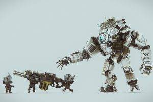 Titanfall, Anime, Rifles, Digital Art, SliD3, Robot, Weapon