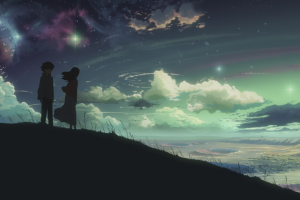 space, Anime, Stars, 5 Centimeters Per Second
