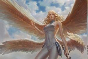 teresa, Digital Art, Claymore (anime), Wings, Sword