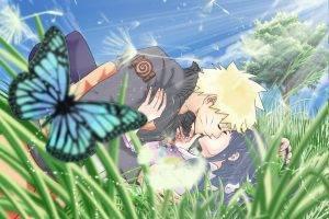 Naruto Shippuuden, Uzumaki Naruto, Hyuuga Hinata, Anime, Kissing, Anime Girls