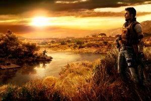 digital Art, Video Games, Gun, Landscape, Nature, Men, Far Cry 2