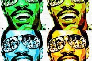 digital Art, Celebrity, Singer, Stevie Wonder, Vintage