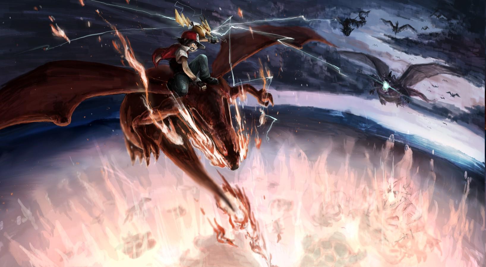Charizard, Dragonite, Gyarados, Fearow, Pokemon, Ash ...