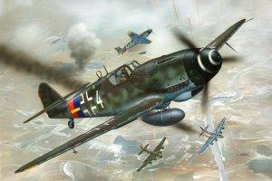 Messerschmitt, Messerschmitt Bf 109, Luftwaffe, Aircraft, Military, Artwork, Military Aircraft, World War II, Germany
