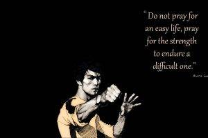 black, Yellow, Life, Quote, Motivational, Bruce Lee