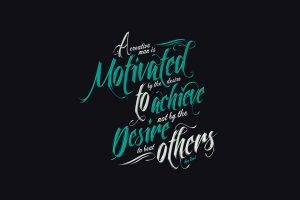 quote, Typography, Dark Background, Simple Background, Motivational