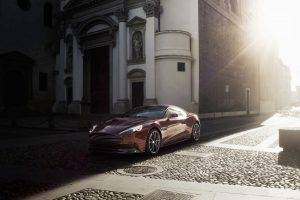 Aston Martin, Church, Sunlight, Red Cars, Aston Martin Vanquish