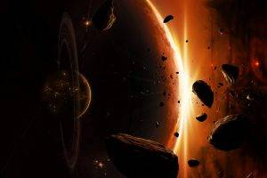 space, Planet, Asteroid, Space Art