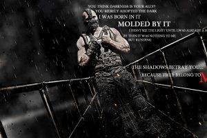 anime, Movies, The Dark Knight Rises, Bane, Tom Hardy, Typography