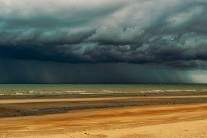 nature, Landscape, Sky, Clouds, Rain, Horizon, Beach, Sand