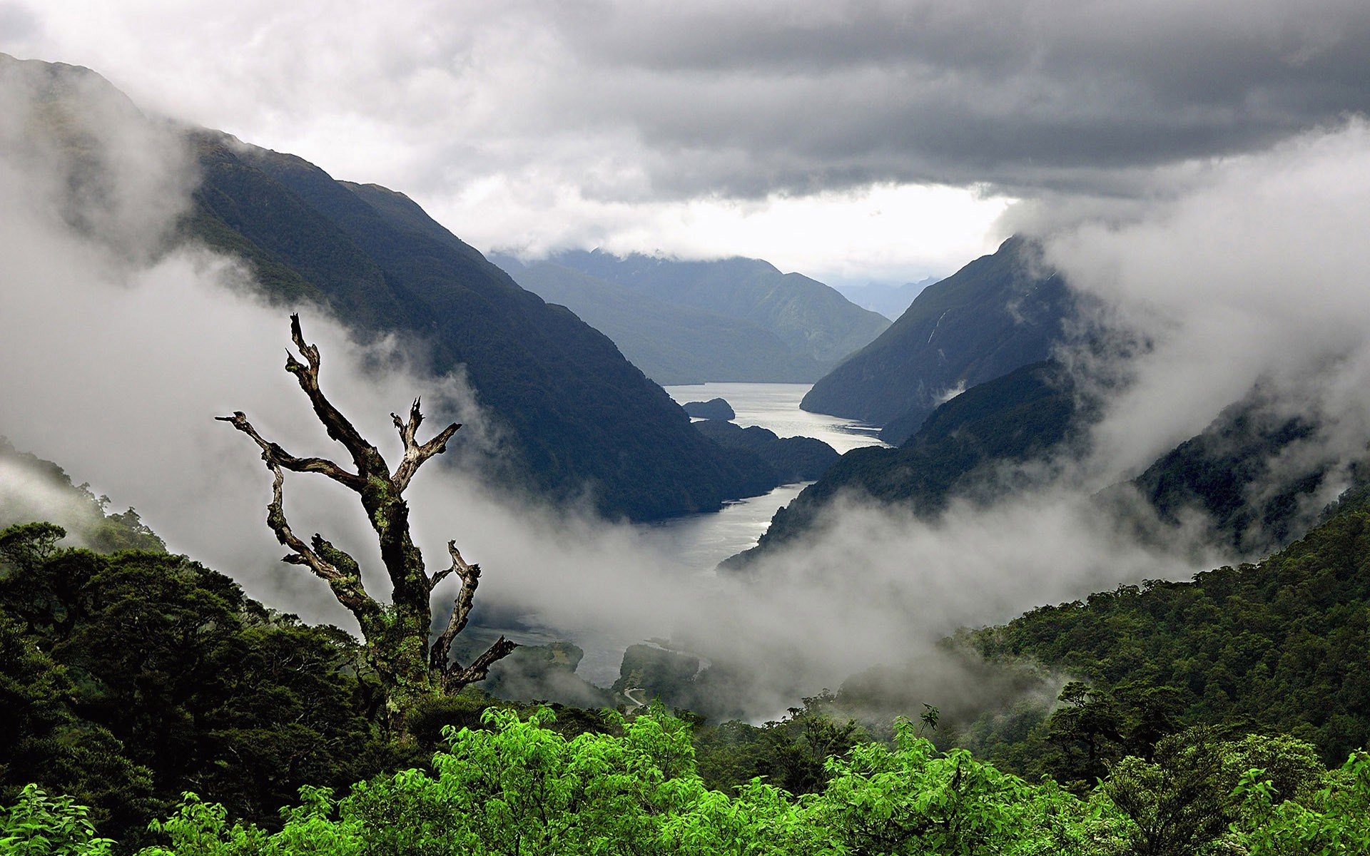 nature, Landscape, Mountain, Mist, Clouds, Sea Wallpapers ...