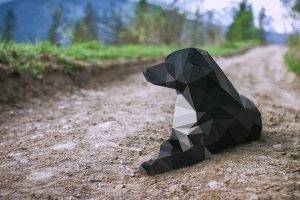 dog, Low Poly, Animals