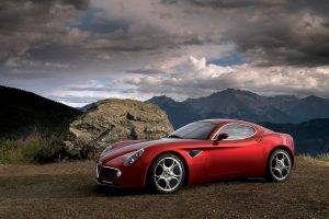 Alfa Romeo, Alfa Romeo 8C, Car, Red Cars