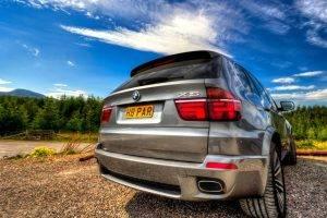 BMW, BMW X5, Car, Clouds, Forest, HDR