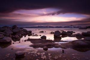 landscape, Water, Sea, Rock, Clouds