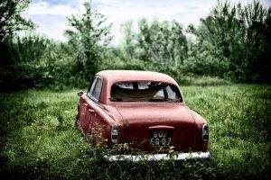 colorized Photos, Car, Abandoned