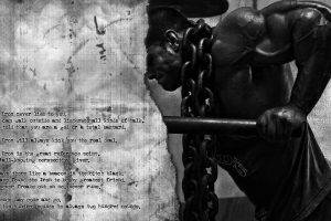 bodybuilding, Working Out, Sports, Monochrome, Quote