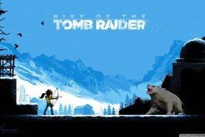 Tomb Raider, Rise Of The Tomb Raider, Pixel Art, Video Games