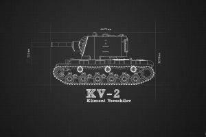 military, Blueprints, KV 2
