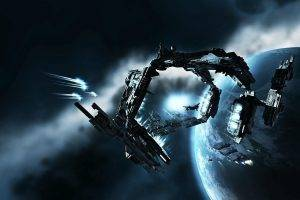 science Fiction, EVE Online, Gates, Spaceship, Space, Caldari