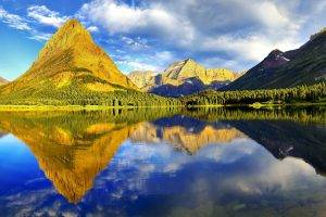 nature, Landscape, Reflection, Mountain, Glacier National Park