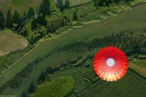 nature, Landscape, Hot Air Balloons, Aerial View, Germany