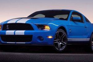 car, Ford Shelby GT500, Shelby GT500, Ford Mustang, Blue