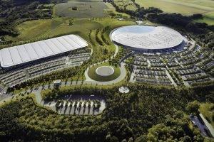 McLaren Technology Centre, Car, Aerial View, McLaren