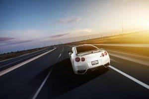 Nissan, Nissan Skyline GT R R35, Car, Highway, Sunlight