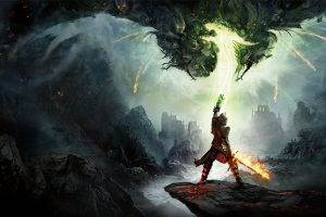 Dragon Age: Inquisition, Dragon Age Inquisition, Dragon Age, Video Games, Fantasy Art, Fire, Knights