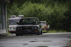 BMW E28, Stance, Stanceworks, Low, Norway, Summer, Rain